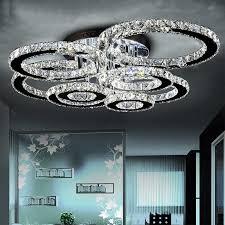moderne led kristall kronleuchter licht runde kreis flush