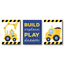 Construction Truck - Baby Boy Nursery Wall Art & Kids Room Décor ... Cartoon Fire Truck New Wall Art Lovely Fire Truck Wall Art Mural For Boys Rooms Gavins Room Room Dump Decor Dumper Print Cstruction Kids Bedrooms Nurseries Di Lewis Nursery Trucks Prints Smw267c Custom Metal 1957 Classic Chevy Sunriver Works Ford Fine America Ben Franklin Crafts And Frame Shop Make Your Own Vintage Smw363 Car 1940 Personalized Stupell Industries Christmas Tree Lane Red Zulily Design Running Stickers For Vinyl
