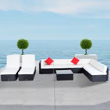 Outsunny Patio Furniture Assembly Instructions by 9 Pcs Rattan Wicker Sofa Outdoor Sectional Patio Furniture Lounge