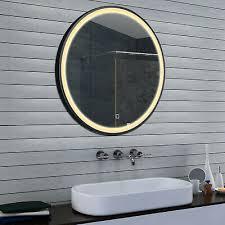 led kalt warm licht badezimmer spiegel aluminium rahmen