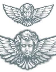 Angel Head With Wings TattooedNow Ltd
