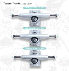 100 Skateboard Truck Sizes Tensor S Size Guide Slam City Skates