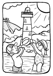 Marion De Castillon Coloriage Du Mercredi Vacances En Bord De Mer