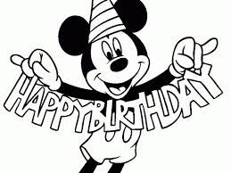 Mickey Mouse Clubhouse Birthday Coloring Pages Disney