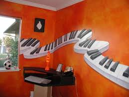 Piano Paint Wall Design Music Room Or Lover Bedroom Ideas