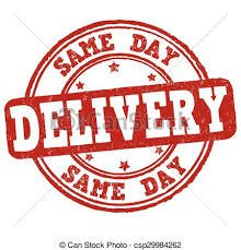 Same Day Delivery Stamp Vector