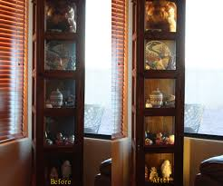 black corner curio cabinet with light oxford canister black