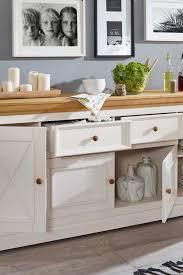 breites massivholz sideboard charming in weiß