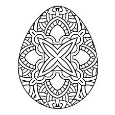 Coloring Pages Hand Drawn Artistic Easter Eggs Pattern For Adult