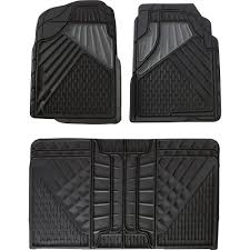 100 Truck Floor Mat GoGear Rubber Set 4Pc Set Black FullSize Vehicles