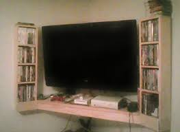 The Corner Entertainment Center Horizontal Floating Shelves Project