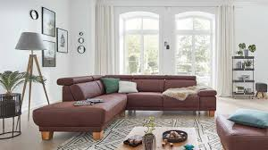 interliving sofa serie 4252 eckkombination schokofarbener stoffbezug büffel holzfüße stellfläche ca 220 x 275 cm
