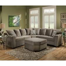 Simmons Flannel Charcoal Sofa Living Room Paducah