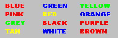 For Example If The Word BLUE Is Printed In A Red Color You Should Say RED Colors As Fast Can It Not Easy Might Think