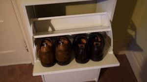 ikea bissa shoe cabinet setup youtube
