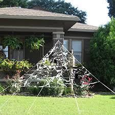 amazon com pbpbox halloween giant spider web set for outdoor