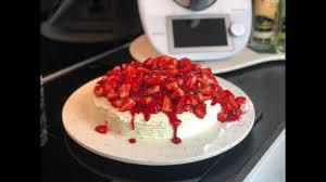 erdbeer pfirsich torte thermomix tm6 tm5