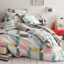 housse de couette linen chest housse de couette coton imprimé triangles modern lofts bed