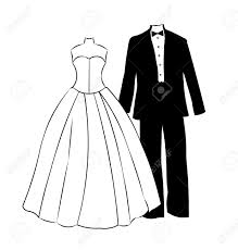 Wedding Dress clipart formal wear 2