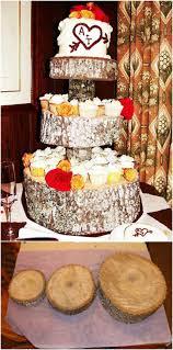 DIY Rustic Wedding Cupcake Stand