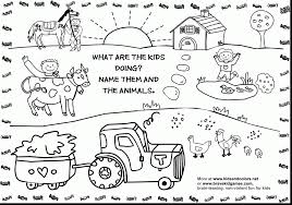 Wonderful Printable Coloring Pages Farm Animals With And For Preschoolers