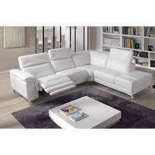 canape angle cuir relax electrique canapé d angle relax électrique cuir blanc tudor angle gauche