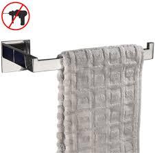 eisenwaren handtuchhalter set schwarz matt handtuchstange