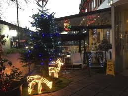 Harrows Christmas Trees by Travel With Angela Lansbury Street Lights In North West London