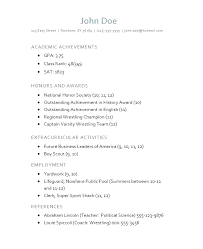 Free Resume Templates For Highschool Graduates Template Students In High School Sample Student College Application Resumes