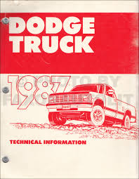 100 1987 Dodge Truck Color Upholstery Album Original