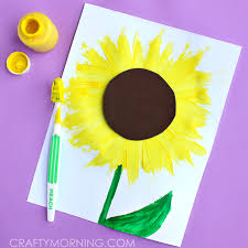 Make A Sunflower Craft Using Toothbrush For Kids