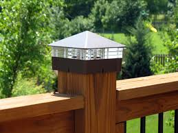 6x6 deck post caps solar solar deck post cap lights iron