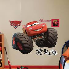100 Lightning Mcqueen Truck McQueen Monster Wall Decal