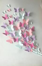 Paper Wall Art 3d Butterfly Home Design Ideas Bedroom Decor