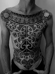 Inca Whole Body Tracery Tribal Tattoo