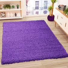 vimoda prime shaggy teppich lila hochflor langflor teppiche modern einfarbig maße 60x100 cm