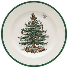 Spode Christmas Tree 10 1 2 Inch Dinner Plates Set Of 4