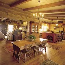 Rustic Italian Dining Room Ideas With Solid Wooden Set And Traditional Chandelier