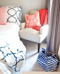 Coral Color Bedroom Accents by Grey Coral And Cerulean Blue Home Decor Remodelaholic 30