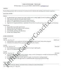 Sample Tutor Resume Template Nursing