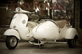 This Is The One Vintage Vespa With Sidecar