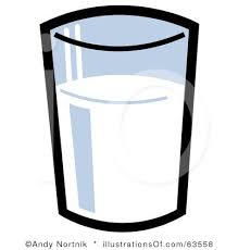 Glass Milk Clipart Black And White