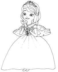 Princess Sofia Coloring Page And Sophia