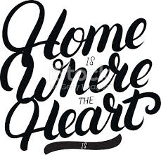 Home Is Where The Heart Hand Written Lettering Stock Vector Art More Images Of Book 667838996