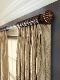 how to hang non pinch pleated drapes on a traverse rod wood