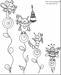 Incredible Bug Party Coloring Page With Bugs Pages And Bunny Online