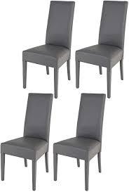 tommychairs 4er set moderne stühle luisa für küche und esszimmer robuste struktur aus lackiertem buchenholz farbe dunkelgrau gepolstert und mit