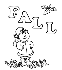 Fall Coloring Pages Kids
