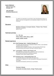 Resume For Employment Sample