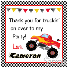 Printable Monster Truck Gift Tags, DIY Monster Truck Tags, Digital ... 80 Off Sale Monster Jam Straw Tags Instant Download Printable Amazoncom 36 Pack Toy Trucks Pull Back And Push Friction Jam Sticker Sheets 4 Birthdayexpresscom 3d Dinner Plates 25 Images Of Template For Cupcake Toppers Monsters Infovianet Personalised Blaze And The Monster Machines 75 6 X 2 Round Truck Edible Cake Topper Frosting 14 Sheet Pieces Birthday Party Criolla Brithday Wedding Printables Inofations For Your Design Pin The Tire On Party Game Instant